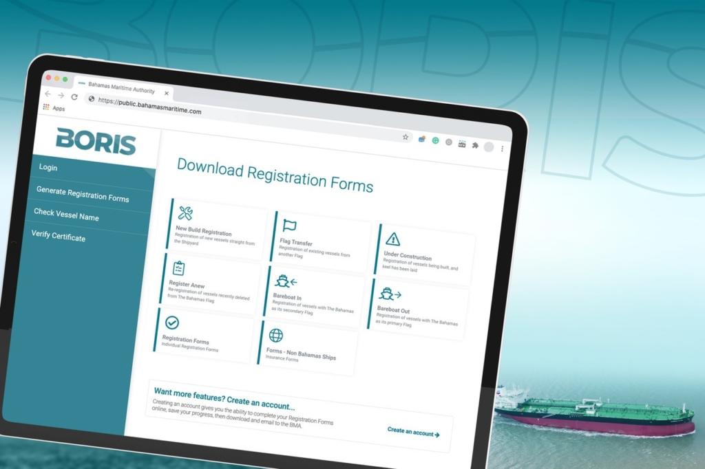 Bahamas Online Ship Registration System BORIS