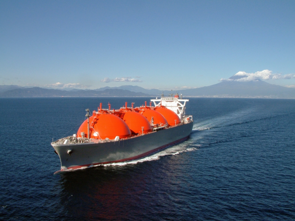 LNG ship on sea