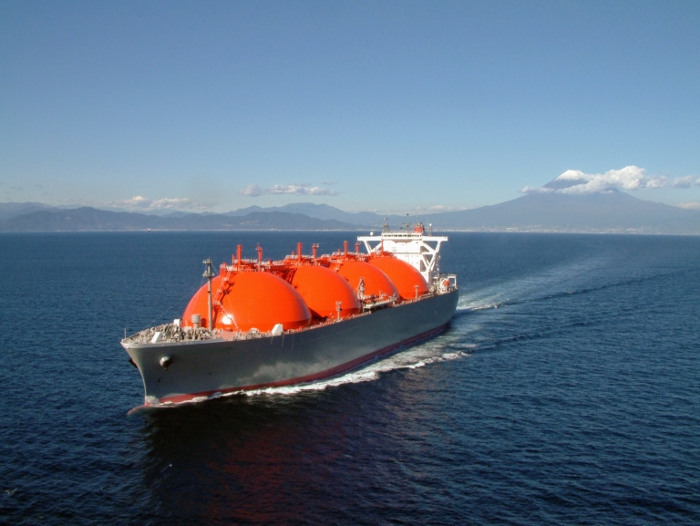 LNG ship on sea